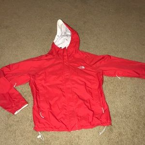 The North Face HYVent DT rain jacket.